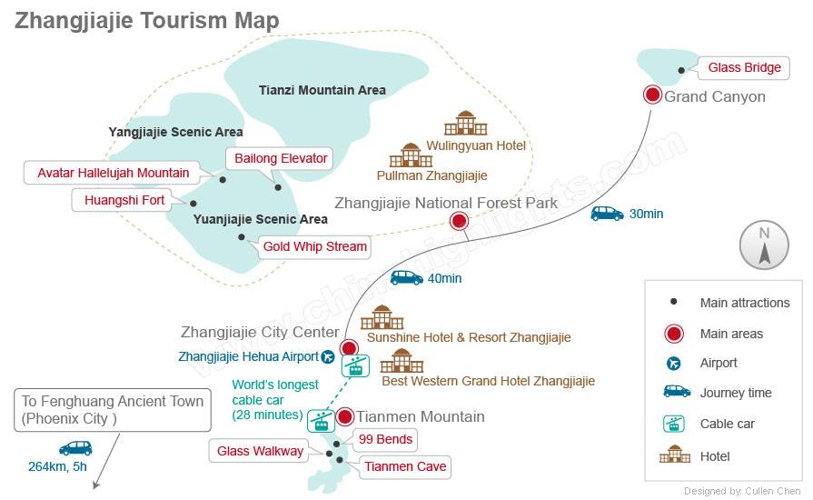 zhangjiajie-map