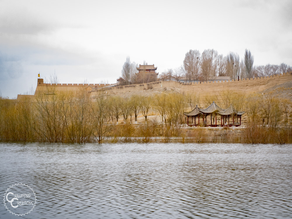 jiayuguan-fort-lake
