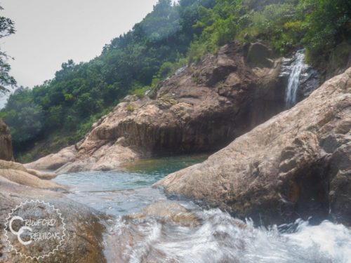 Swimming at a Secluded Waterfall in Jiangmen