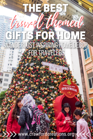 Travel Home Decor | Travel Gifts | Travel Themed Home Decorations | Travel Inspired Gifts | Travel Themed Holiday Gift Guide | Travel Gift Guide | Gift Ideas For Travel Lovers | Gift Ideas For Travelers